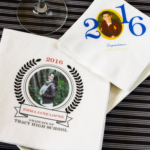Personalized Full Color Print Graduation Napkins