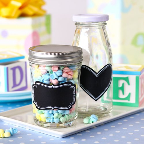 Vinyl Chalkboard Labels on Jars