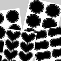 Vinyl Chalkboard Labels