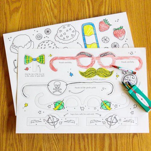 Kids Activity Punch Out Placemats