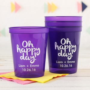 Personalized Bridal Stadium Cups