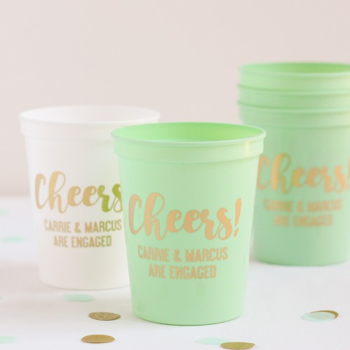 Personalized Cheers Stadium Cups