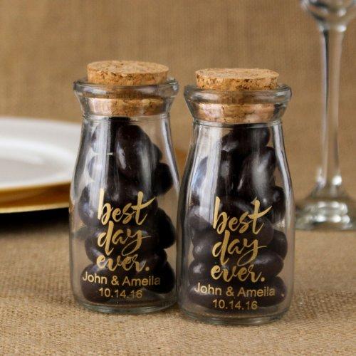Personalized Best Day Ever Vintage Milk Jars