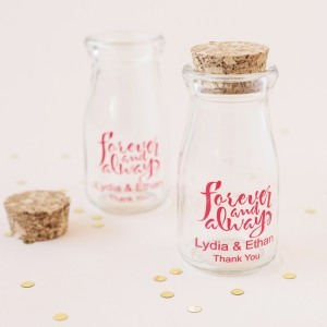 Personalized Printed Vintage Milk Jars