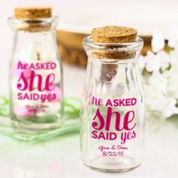Imprinted Vintage Milk Jars