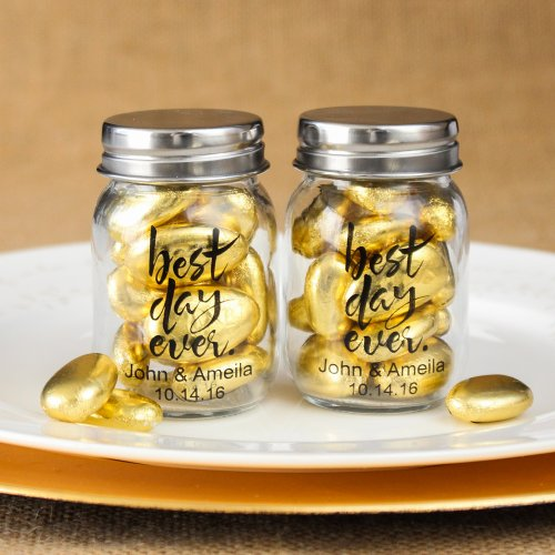 Personalized Best Day Ever Mini Mason Jars