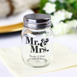 Printed Mini Glass Mason Jars