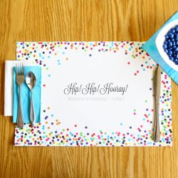 Personalized Birthday Placemats