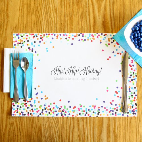 Personalized Birthday Placemat