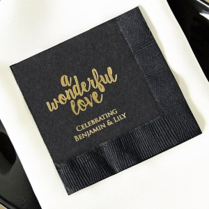 Personalized Exclusive Bridal Napkins