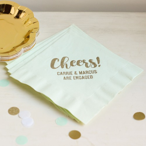 Personalized Cheers Bridal Napkins