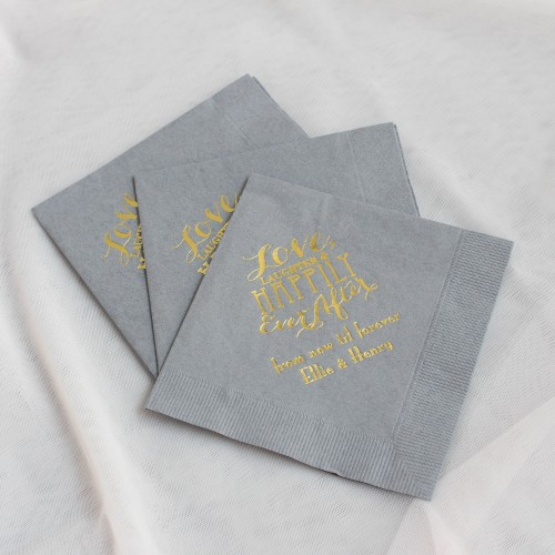 Personalized Exclusive Love Laughter Wedding Napkins