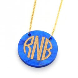 Round Acrylic Monogram Necklace