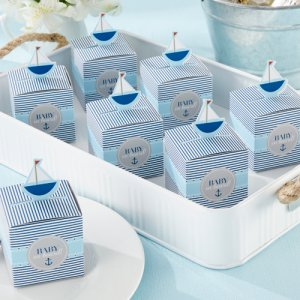 """Baby on Board!"" Pop-Up Sailboat Favor Boxes"