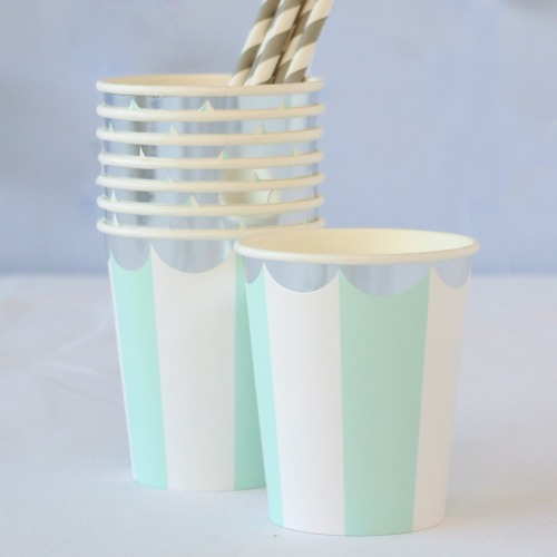 Scalloped Stripe Party Cups