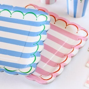 "Toot Sweet Stripe 9"" Party Plates"