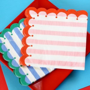 "Toot Sweet Stripe 6"" Party Napkins"