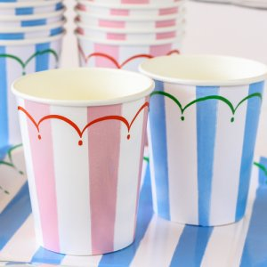 Toot Sweet Stripe Party Cups