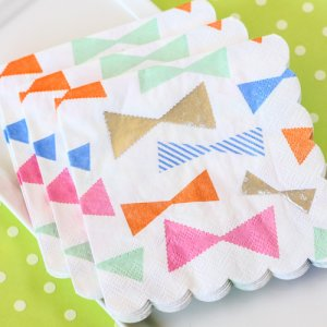 "Toot Sweet Bow Pattern 5"" Party Napkins"