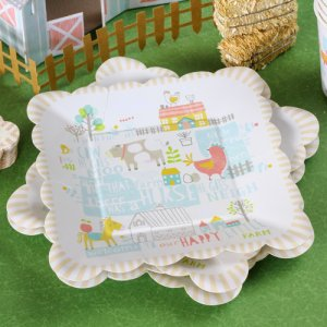"Happy Little Farm 7"" Party Plates"