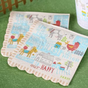 "Happy Little Farm 5"" Party Napkins"