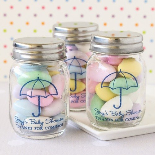 Personalized Umbrella Printed Mason Jars