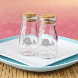 Printed Baby Shower Vintage Milk Jars
