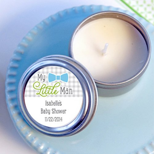 Personalized Baby Shower Travel Candle