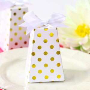 Gold Dot Favor Boxes