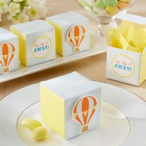 """Up, Up & Away!"" Hot Air Balloon Favor Boxes"