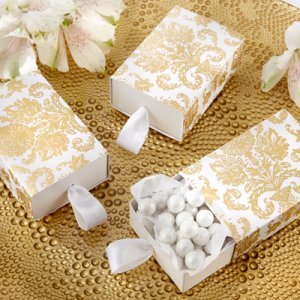 Treasures Gold Damask Favor Boxes