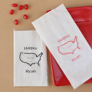 Personalized Wedding Cellophane Bags