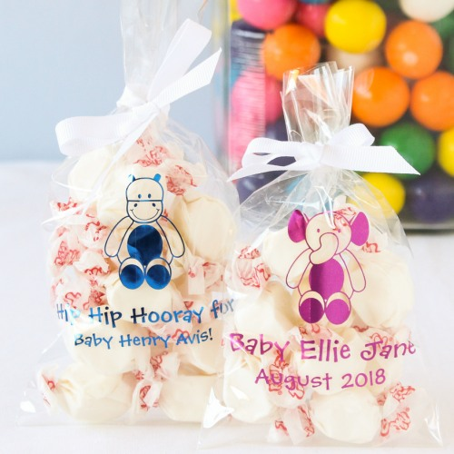 Personalized Baby Shower Cellophane Favor Bags