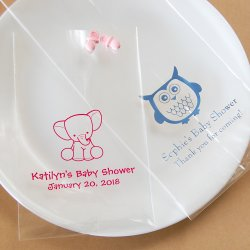 Personalized Baby Shower Cellophane Bags