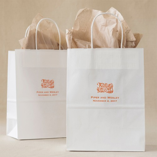 Personalized Fall Wedding Gift Bags