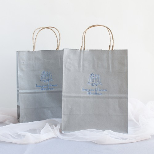 Personalized Love Laughter Wedding Gift Bags