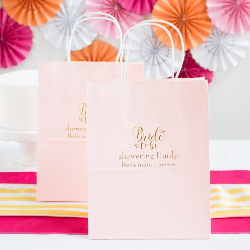 Personalized Bride to Be Gift Bags
