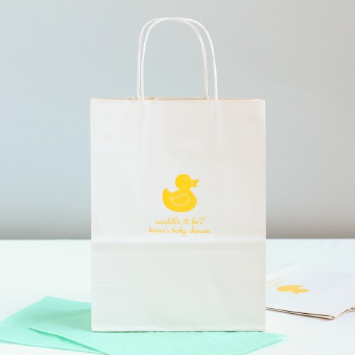 Personalized Duck Gift Bag