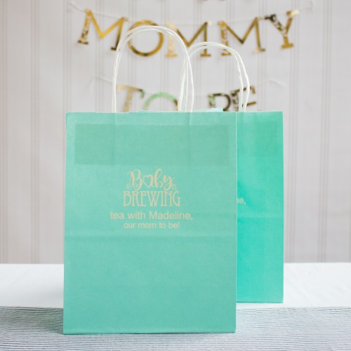 Personalized Baby is Brewing Gift Bags