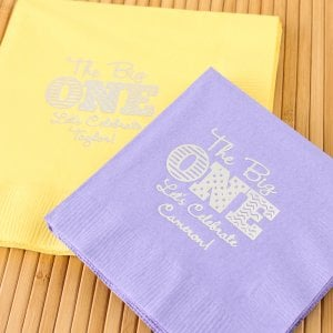 Personalized Birthday Party Napkins