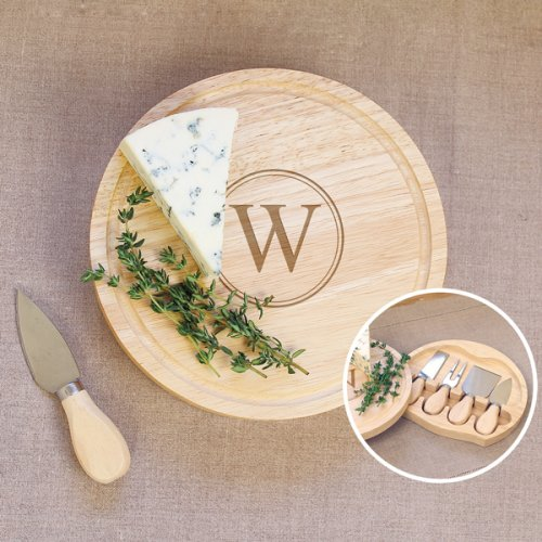 Personalized Five Pc Cheese Board Set 5 Piece Cheese