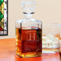 Personalized Whiskey Glass Decanter