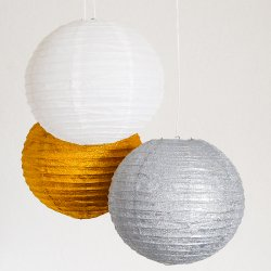 Glitter Paper Lanterns