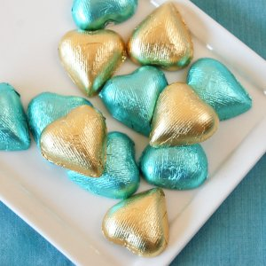 Metallic Foil Wrapped Hearts