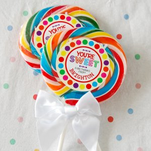 "Whirly 3"" Rainbow Lollipops"