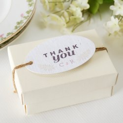 Personalized Floral Woodland Plantable Favor Tag