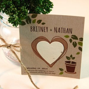 Personalized Herb Rustic Plantable Favor