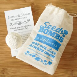 Personalized Wildflower Seed Bombs Favor