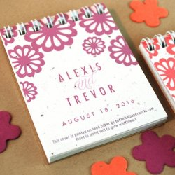 Personalized Plantable Notepad Favor