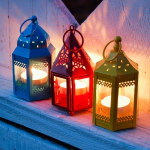 Mini Hurricane Tealight Lantern
